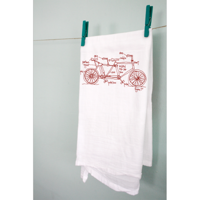 I'm adoring this tandem bike tea towel. I think it'll make the perfect Christmas gift for a good friend of mine! Totally going to hit up Fab.com for holiday gifts this year. Love, Nik PS: Maybe we should have a tab of fun holiday gift ideas?! Or, I suppose that's pretty much what this whole blog is, eh? :)