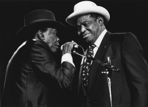 349) Willie Dixon and John Lee Hooker at John Lee Hooker Tribute, Madison Square Garden, New York City - 1990 photo (c) Alan Strauber (all rights reserved) 10.23.11