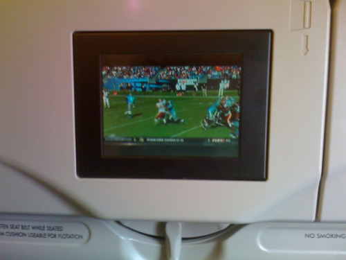 NFL Red Zone channel on a Sunday afternoon flight: clutch.  Thanks, Frontier!