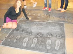 Me in L.A.! i freaked when I found Harry Potter in front of the Grauman Chinese Theater! i had to ask kids to move so i can take a picture! ahhhh :)