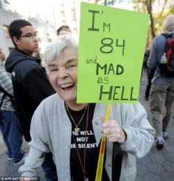 We are with you Grandma !! #OccupyWallStreet