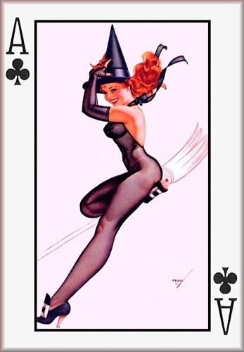 Ace of Clubs ~ George Petty halloween