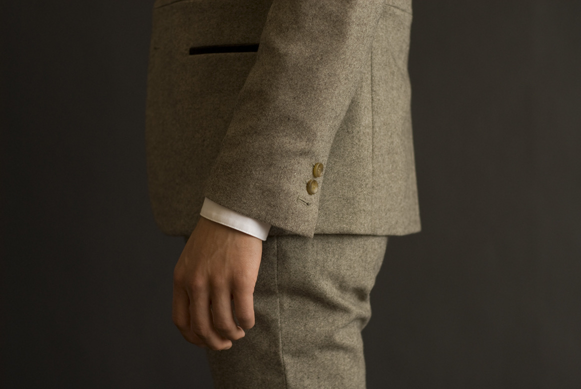 Wool suiting from Baron Wells Fall 2011.