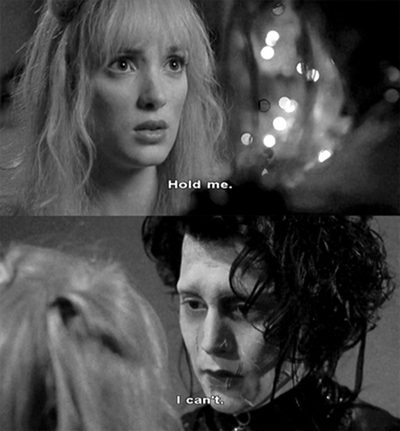 I watched Edward Scissorhands last night at 3am. I fell in love with him immediately.