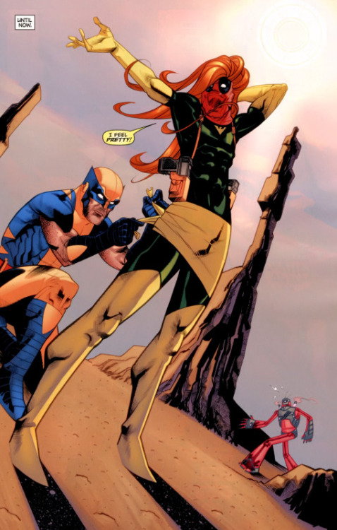 Remember that time when Deadpool dressed up as Jean Grey and gave Wolverine an anti-boner? Good times, bro.