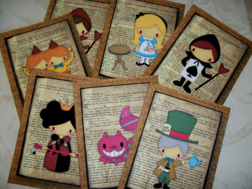 Alice and Friends Fairytale book pages click through for Etsy Page