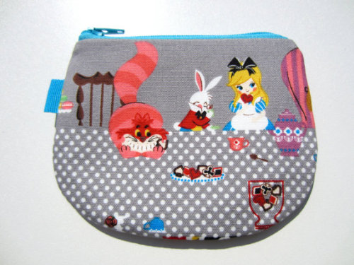 Alice in Wonderland Coin Pouch Click through for Etsy page