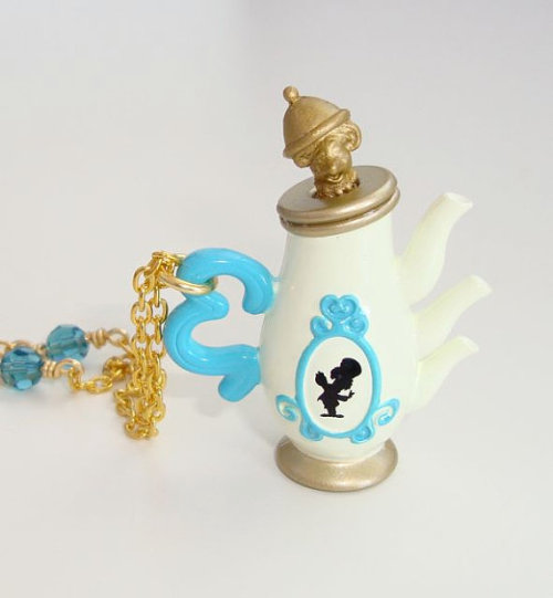 Alice in Wonderland Unbirthday tea party necklace Click through for Etsy page