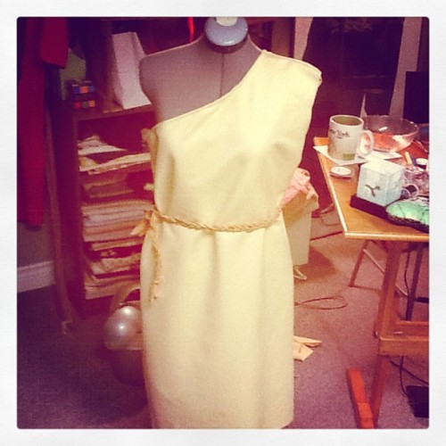 """Pocahontas dress so far. Love patternless sewing."" (Taken with Instagram)"