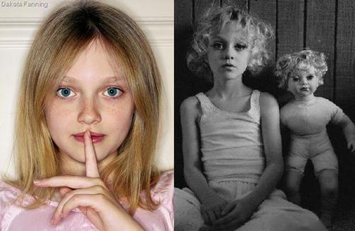 Dakota Fanning who is programmed shows silence programming and an alter personality with the doll who's one eye shows signs of trauma.