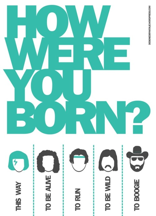 laughingsquid:  How Were You Born? Street Flyer