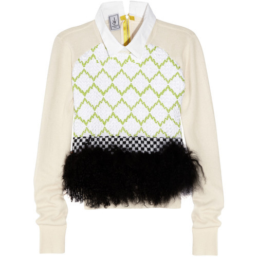 thechicdepartment:  J W Anderson sweater (see more neon tops) I honestly don't know if i  hate it or totally in love with it . Im thinking love ?