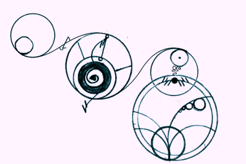 """I will love you forever."" written in Gallifreyan."