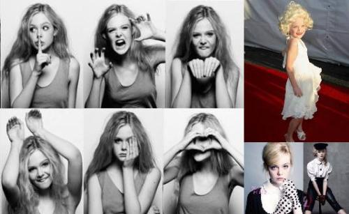 Elle Fanning, sister of Dakota Fanning, is also Monarch programmed. She shows silence programming, a cat alter, posing like a bunny (white rabbit), and the all-seeing-eye symbolism. She dressed as Marilyn Monroe, and has had photoshoots with duality.