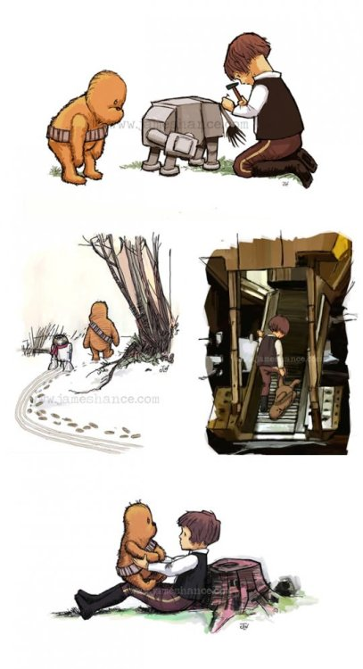 chezamanda:  omgyouguys:  Wookiee The Chew by James Hance