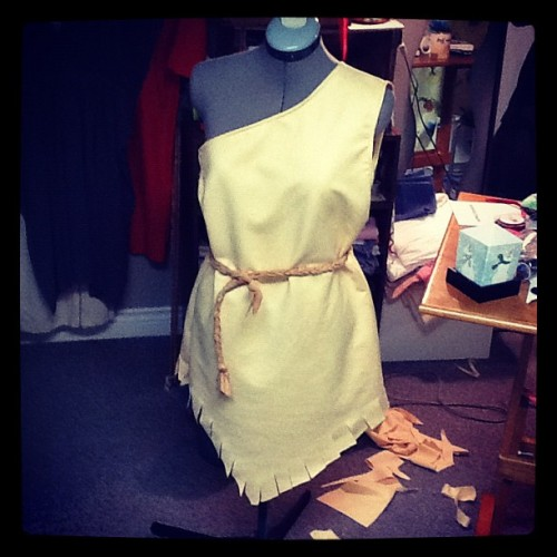 """Pocahontas! Made this dress today for a friend. So happy with the turnout. All made & designed by me, Cory U."" (Taken with Instagram)"