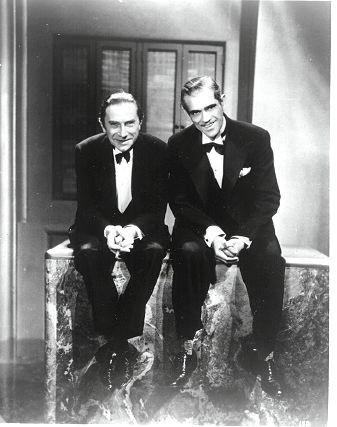 lacinemateca:  Bela Lugossi and Boris Karloff
