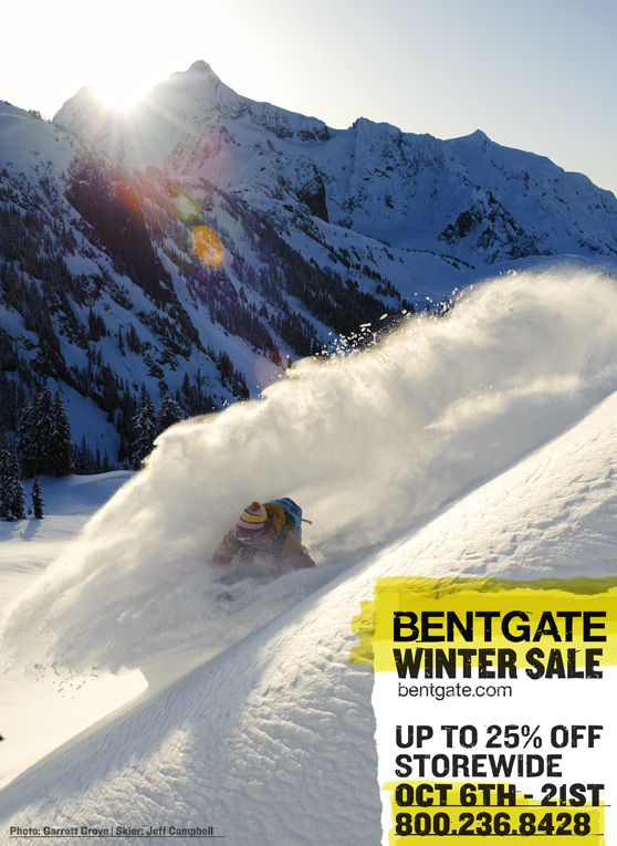 Jeff at it again! Back cover of Telemark Skier Magazine! Photo: Garrett Grove. This photo was taken in the Mt Baker Area Backcountry.