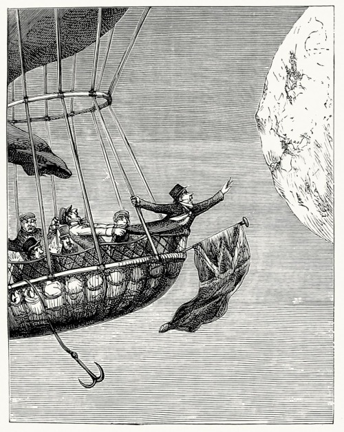 oldbookillustrations:  The monstre balloon. John Leech (?), from The Ingoldsby legends, by Thomas Ingoldsby (Richard H. Barham), New York, 1848. (Source: archive.org)