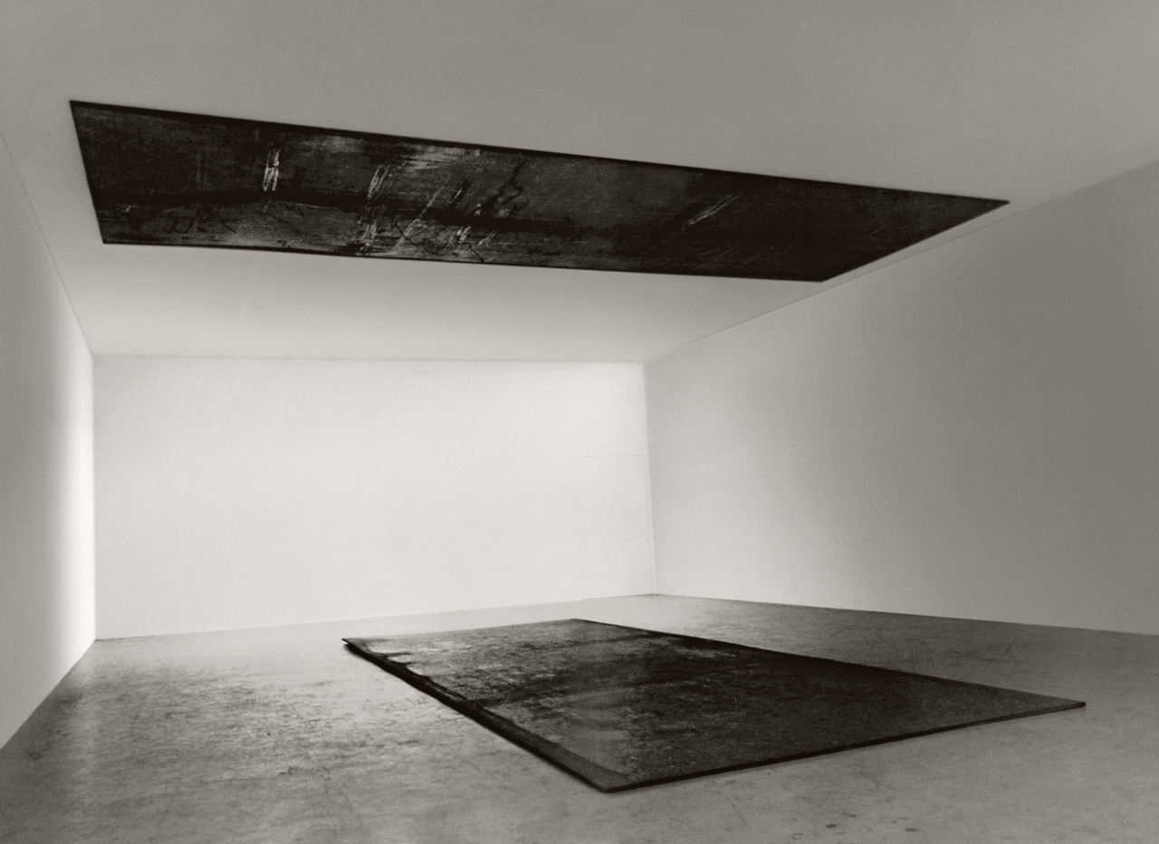 michaelcharles:  Richard SerraDelineator, 1974–75Hot-rolled steel, two platesCollection of the artist