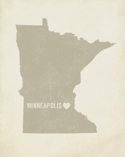 stuffaboutminneapolis:  I Love Minneapolis Wood Block Art Print  by LuciusArt