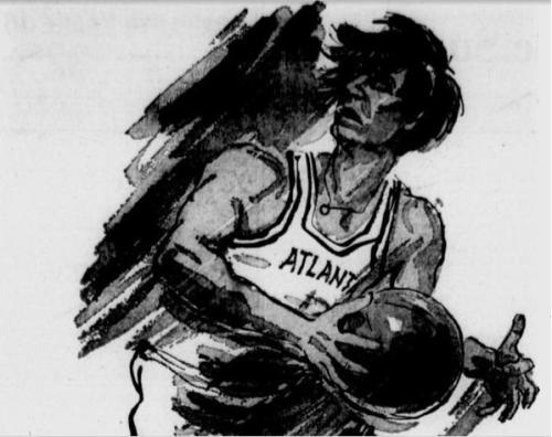 SEP 1970: This caricature of Maravich ran in national papers over the last week of September in 1970, which coincided with his early preseason appearances.