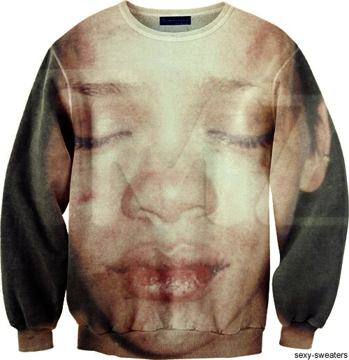 so, people kept requesting a chris brown sweater, even though we said we don't condone domestic abuse.
