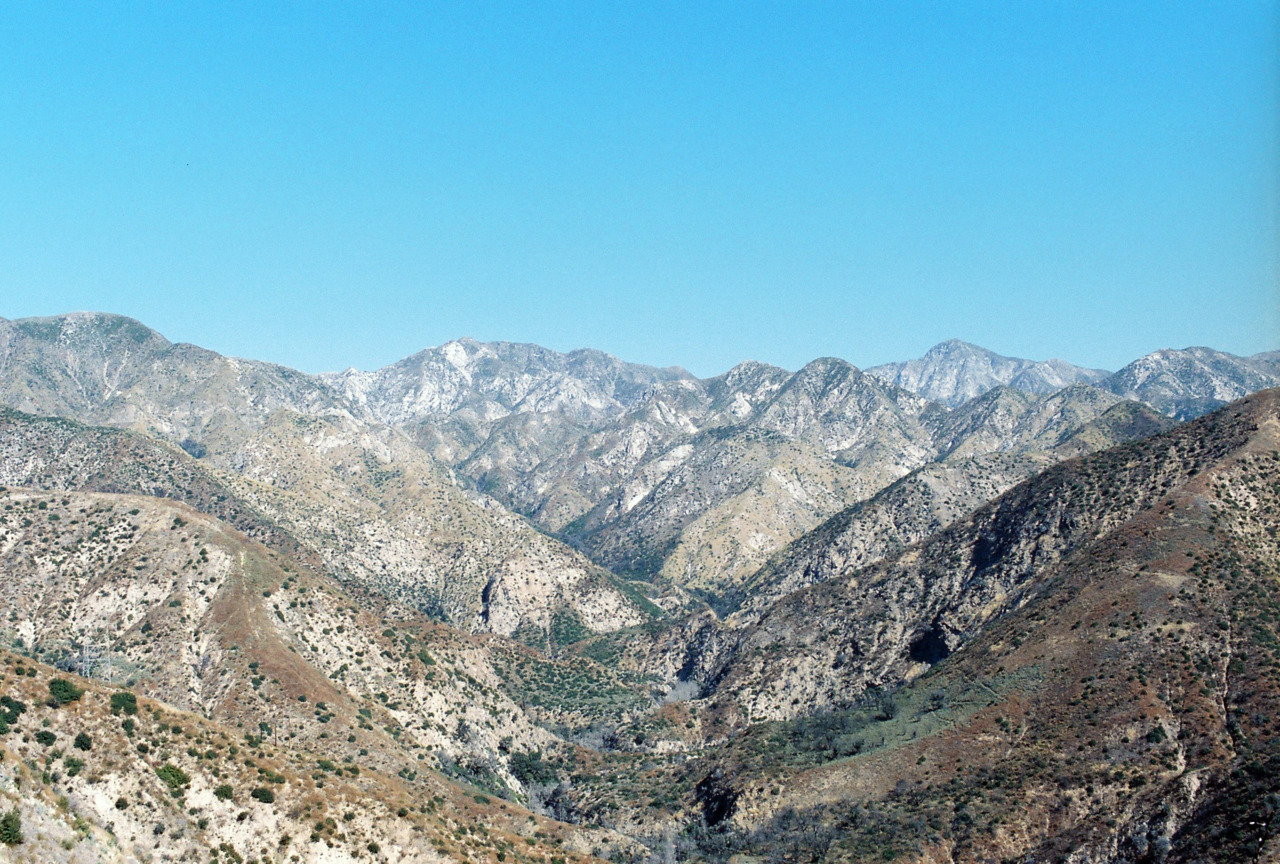 Looking North: Angeles Mountains. [Nikon F3. Kodak Portra.]