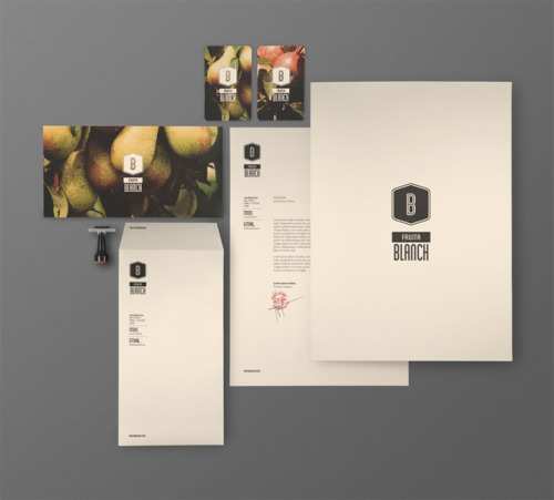 Fruita Blanch brand collateral by Atipus