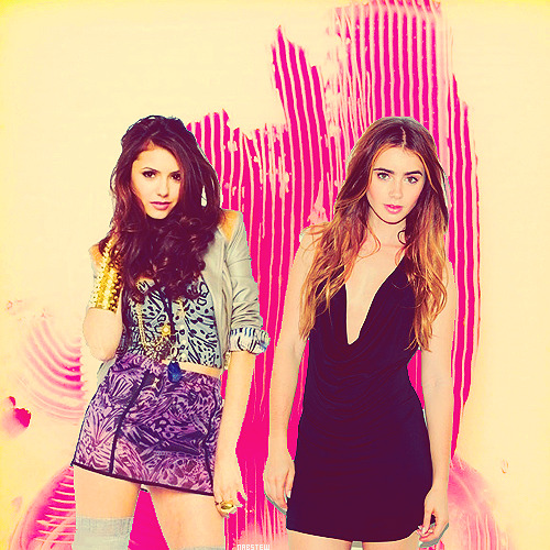 ~Nina Dobrev & Lilly Collins.                    -asked by effandrade