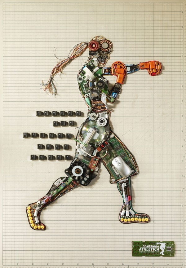 Impressive Posters Made From Electronic Parts By Top Design Magazine - http://bit.ly/n1BGWJ