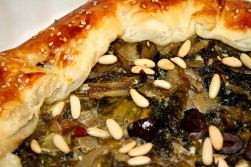 Escarole pie, typical dish of neapolitan region.