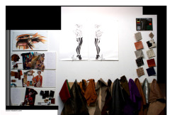 mkatchi:  Here's a pic of the wall in my personal studio…..Color / material / boards & all my precious  leathers …