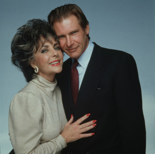 onlyharrisonford:  Liz Taylor and Harrison Ford. This picture made my day!