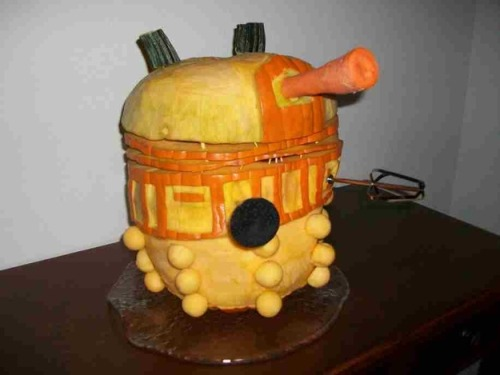 Scary Dalek Pumpkin [PIC] Part of this week's series on Wholloween