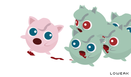 Today, a Zombie Jigglypuff (Rondoudou in French) Attack illustration !