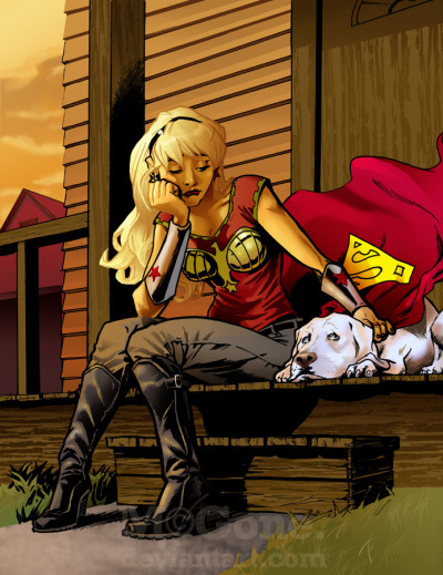 Cassie and Krypto, reminiscing over how things used to be…