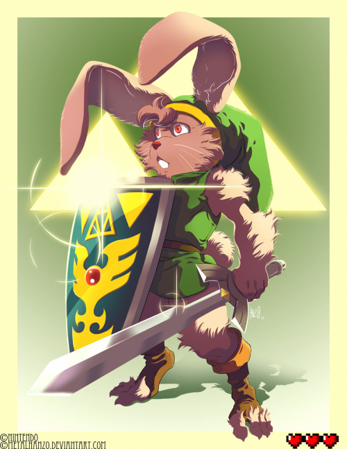 Link's innocent bunny transformation from Zelda: A Link to the Past takes shape in Hanzo Steinbach's new fan art piece. Pesky wabbit! Related Rampages: Skyward Sword | Z-Overdrive (More) Bunny Link by Hanzo Steinbach (Facebook) (Twitter)