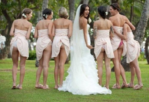 Bridesmaids Babes Show Off Butts   I now pronounce you very hot girls.