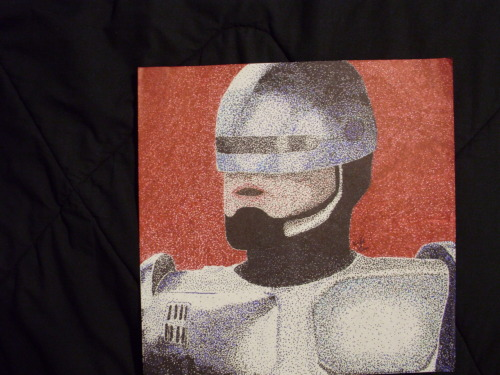 Here is another pointalism I did back in 2009, this one in color. Robocop!