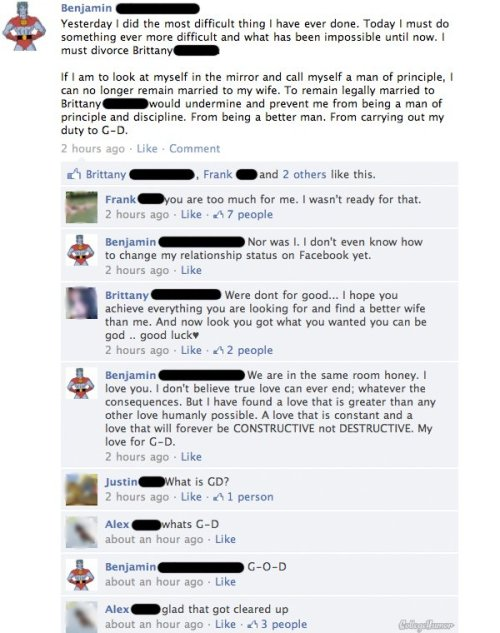 People Should Stop Talking About Religion on Facebook - (Click for larger)