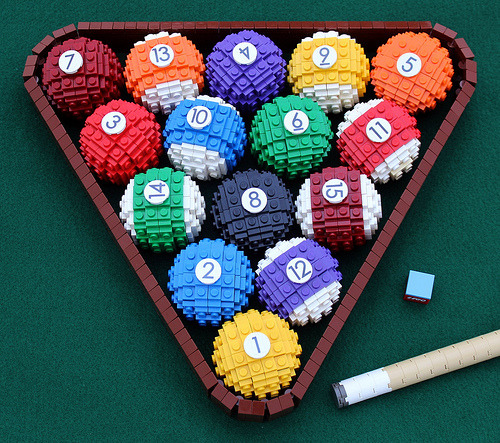 laughingsquid:  Racked LEGO Pool Balls