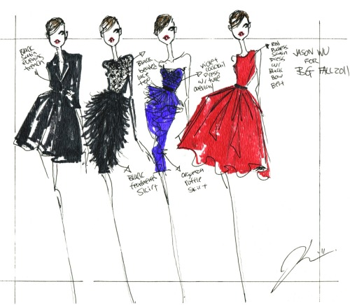 bergdorfgoodman:  Jason Wu sent us a sketch.  Join Jason on 3 this week