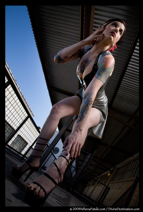Photo by Barry Underhill / latex is custom by Syren Shot at my last loft in Dallas, this was a balcony on the 6th floor of a 100 year old flour mill that had been converted for residential living. I really miss living there.