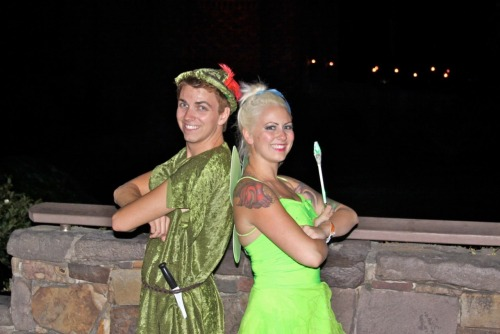 With my baby bro…Peter Pan and Tinkerbell, fo life