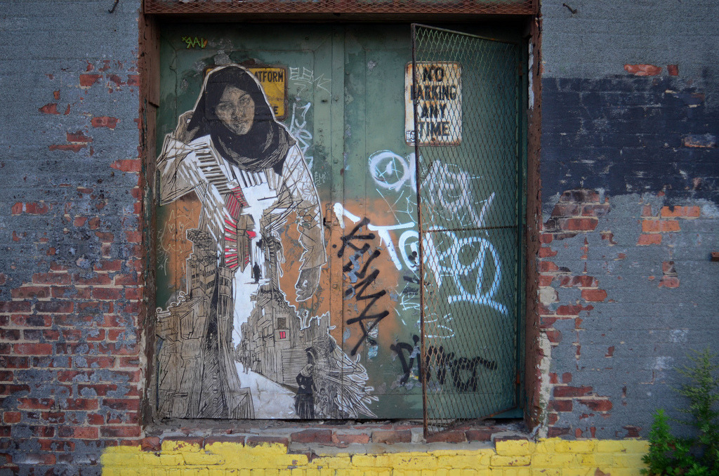 Swoon  A new piece by Swoon, I love her work. Check out more street art and graffiti here.