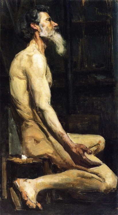 deerskinash:  peira:  Henry Ossawa Tanner:  Study for Androcles (1885-1886)  As I was scrolling past this my immediate first thought was: OMG THAT'S A PAINTING OF GRAHAM CHAPMAN PLAYING AS MR. LUXURY YAHT PRONOUNCED THROAT WOBBLER MANGROVE! Then it wasn't.  …I'm not the only one who thought that?Thank God.