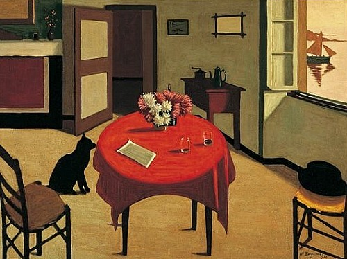 Marius Borgeaud Interior with Two Glasses 1923