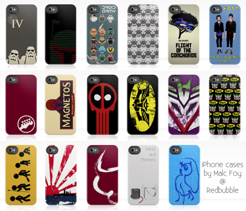 iPhone cases ahoy!  Got some sweet looking iPhone 4/iPhone 4S cases up at Redbubble (and also Society6) so if you have, are thinking of getting or might want to get a friend/family member a sweet and limited edition iPhone 4 case then look no further than my redbubble page. Fancy another of my designs on an iPhone case? Just ask. I'll get to them all eventually ;) Reblog like mad