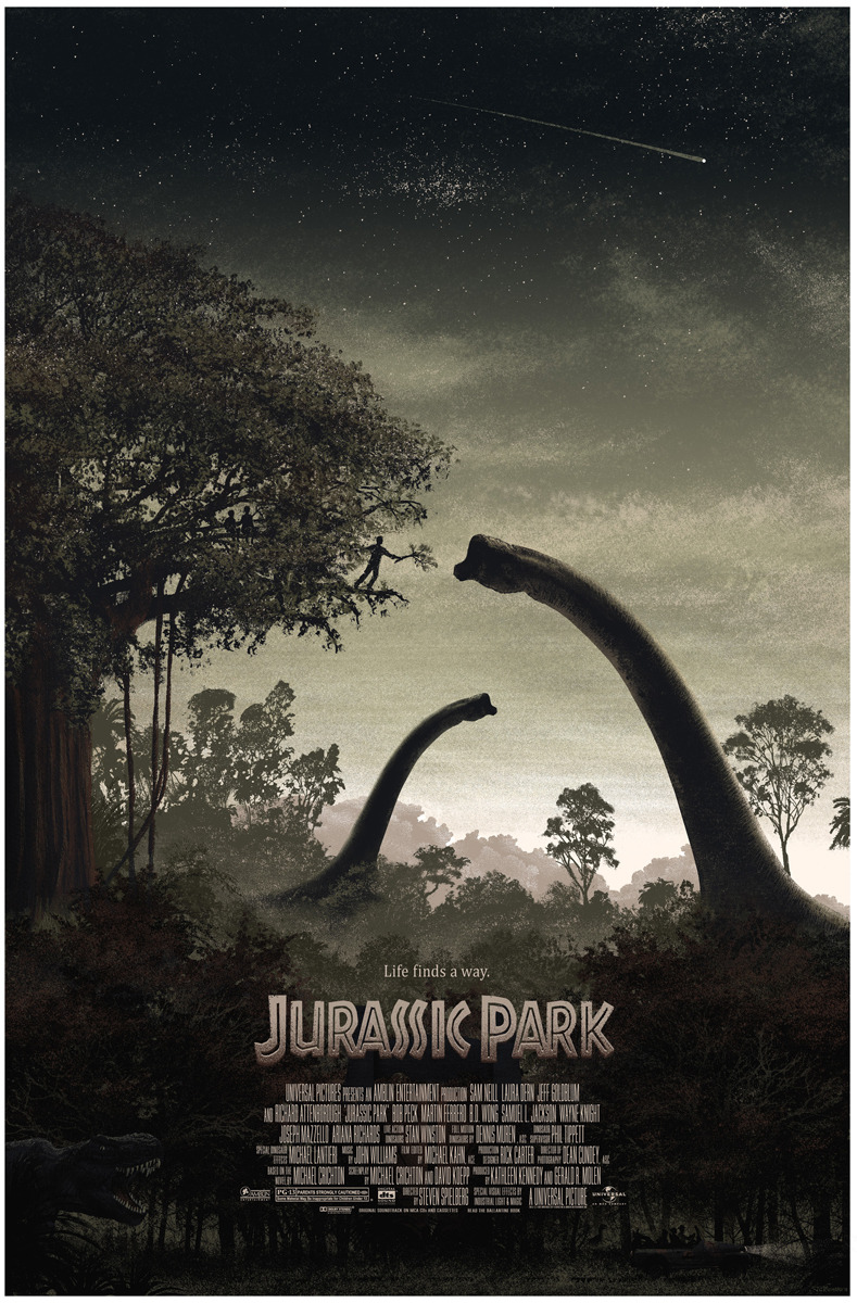 Mondo Tees have done it again! Check out this GORGEOUS Jurrasic Park poster by JC Richard!!! If you follow Mondo Tees on twitter, keep an eye on their feed to find out when this beauty goes on sale (should be Thursday) for a puny $45. Thanks to Badass Digest for the scoop.